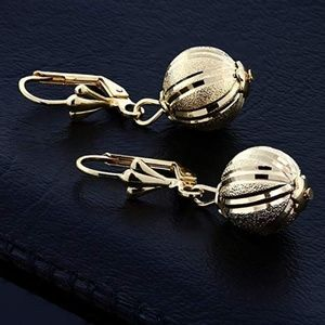 Gold lever back earrings, Gem Stone King, NIB